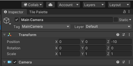 Unity Collab Button Location