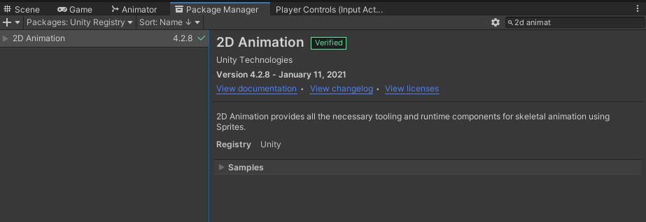 2d animation package