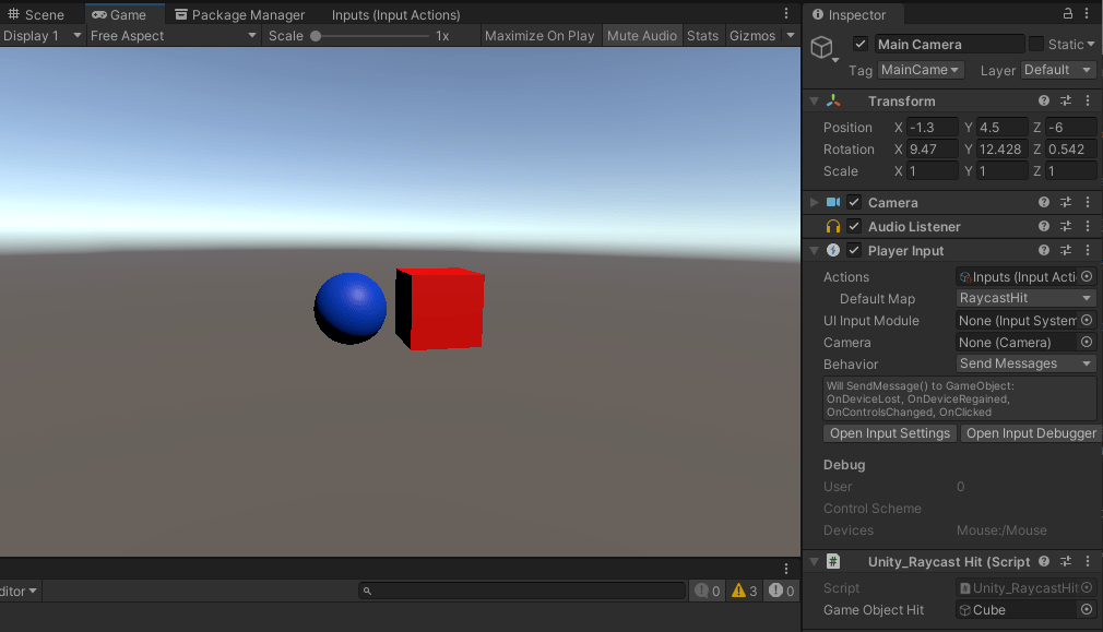 Storing the GameObject that was Hit
