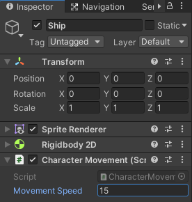 top down movement component